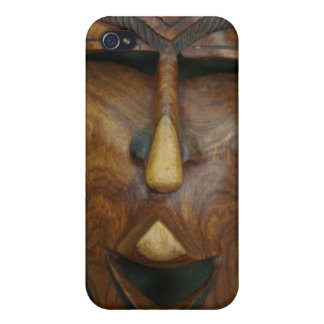 Wooden African mask iPhone 4/4S Case