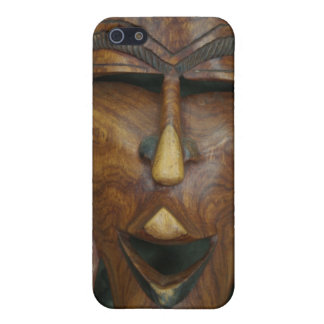 Wooden African mask iPhone 5/5S Case