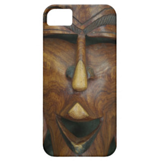 Wooden African mask iPhone 5 Cover