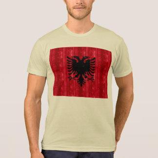 Wooden Albanian Flag T-shirt
