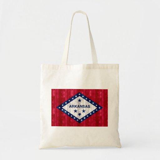 Wooden Arkansan Flag Tote Bags