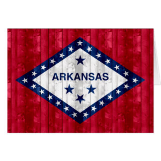 Wooden Arkansan Flag Greeting Cards