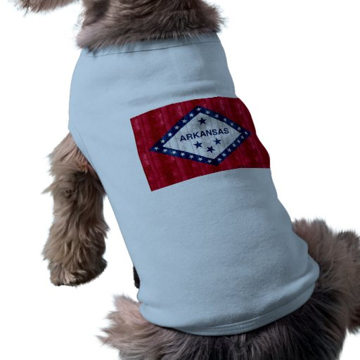 Wooden Arkansan Flag Pet Tshirt