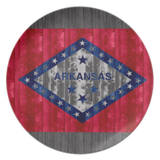 Wooden Arkansan Flag Party Plate