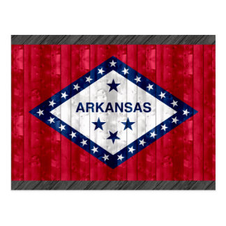 Wooden Arkansan Flag Postcard