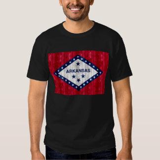 Wooden Arkansan Flag Tee Shirts