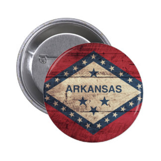Wooden Arkansas Flag 6 Cm Round Badge