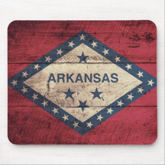 Wooden Arkansas Flag Mouse Mat