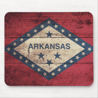 Wooden Arkansas Flag Mouse Pad