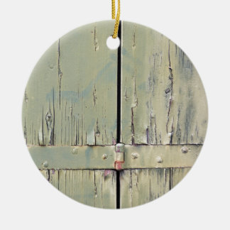 wooden background christmas ornament