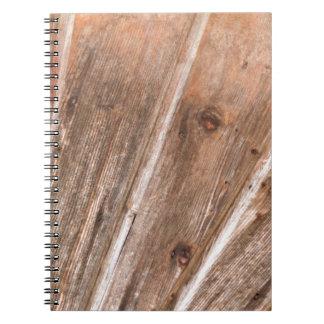 wooden background notebook