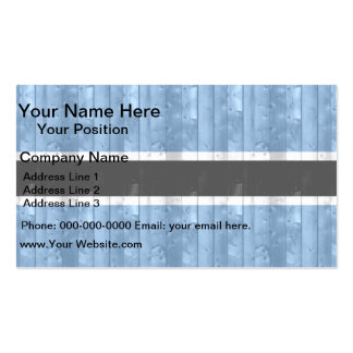 Wooden Batswana Flag Pack Of Standard Business Cards