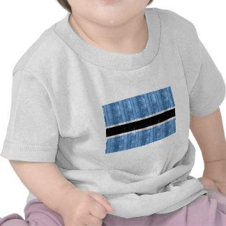 Wooden Batswana Flag Tee Shirt