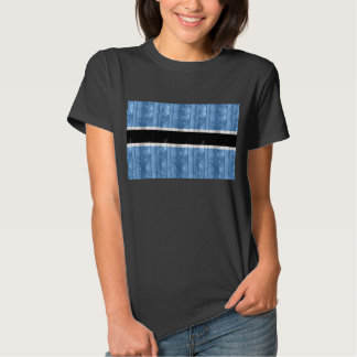 Wooden Batswana Flag Tshirt