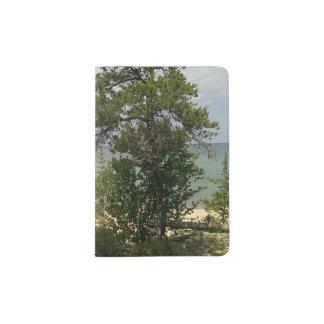 wooden beach passport holder