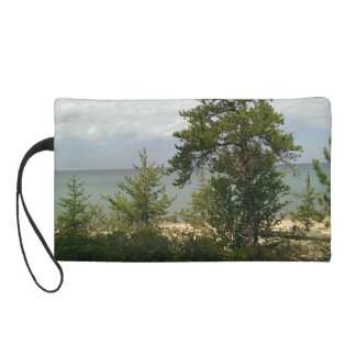 wooden beach wristlet purses