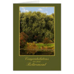 Wooden Bench, Park, Retirement Congratulations Greeting Card