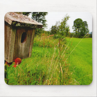 Wooden Birdhouse Mouse Pad