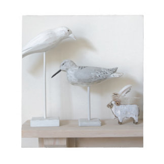 Wooden birds and birch sheep notepad