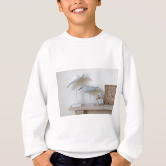 Wooden birds and birch sheep sweatshirt