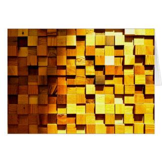 Wooden Blocks Pattern Card