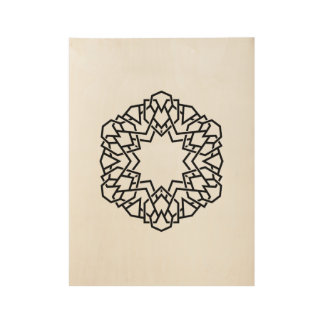 Wooden board with Mandala art Wood Poster