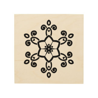 Wooden board with mandala art wood print