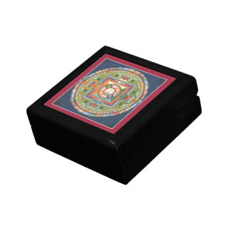 WOODEN BOX with TILE -Mandala Buddha of Compassion