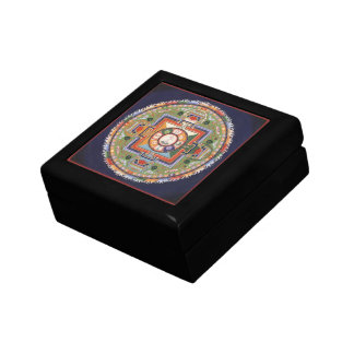 WOODEN BOX WITH TILE- Mandala Buddha of Compassion