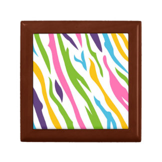 Wooden box with zebra Stripes Small Square Gift Box