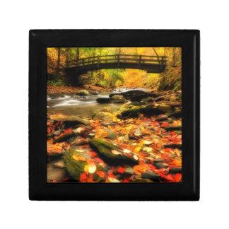 Wooden Bridge and Creek in Fall Gift Box