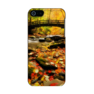 Wooden Bridge and Creek in Fall Incipio Feather® Shine iPhone 5 Case