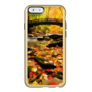 Wooden Bridge and Creek in Fall Incipio Feather® Shine iPhone 6 Case