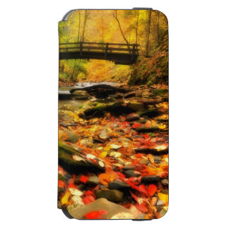 Wooden Bridge and Creek in Fall Incipio Watson™ iPhone 6 Wallet Case
