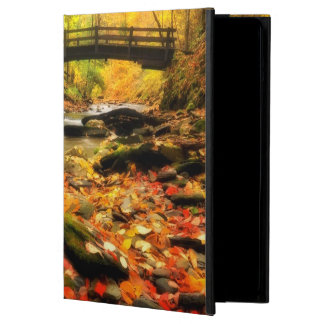 Wooden Bridge and Creek in Fall iPad Air Case