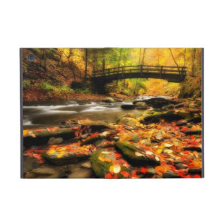Wooden Bridge and Creek in Fall iPad Mini Cover