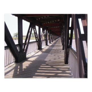 Wooden Bridge 11 Cm X 14 Cm Invitation Card