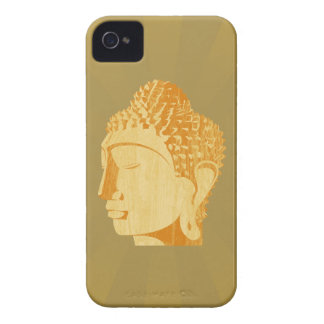 Wooden Buddha Blackberry Case (golden background)