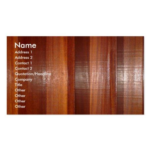 Wooden Buisness Card Business Card