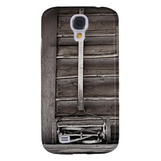Wooden Cabin and Antique Reel Lawnmower Galaxy S4 Case