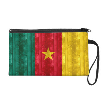 Wooden Cameroonian Flag Wristlet Purses