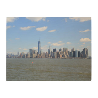 Wooden Canvas Of View Over New York Wood Canvas