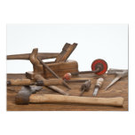 Wooden Carpenter Tools Personalized Invitation
