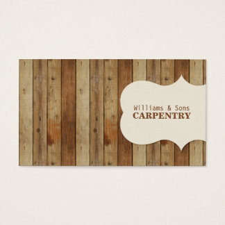 Wooden Carpentry Business Card