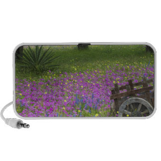 Wooden Cart in field of Phlox, Blue Bonnets iPhone Speaker