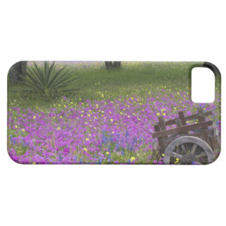 Wooden Cart in field of Phlox, Blue Bonnets with Case For The iPhone 5