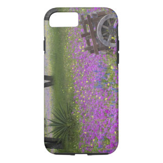 Wooden Cart in field of Phlox, Blue Bonnets with iPhone 8/7 Case