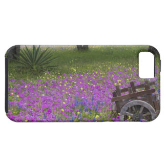Wooden Cart in field of Phlox, Blue Bonnets with Tough iPhone 5 Case