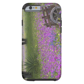 Wooden Cart in field of Phlox, Blue Bonnets with Tough iPhone 6 Case