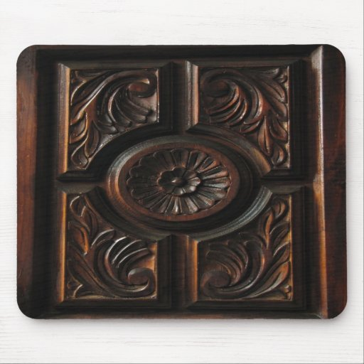 Wooden Carving Mousepads